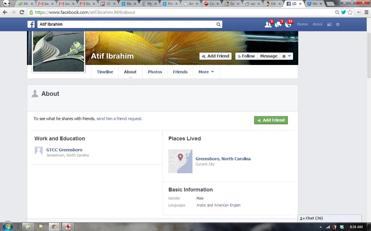 Atif Ibrahim Facebook About